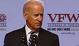 The vice president spoke to the VFW convention July 21 in St. Louis.