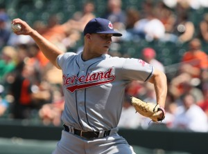 Justin Masterson will start against the Brewers on Saturday.