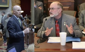 Representative Casey Guernsey (left) and Senator Brian Munzlinger sponsored agriculture omnibus legislation including captive deer language, in the 2014 session.  (photos courtesy; Tim Bommel, Missouri House Communications and the office of Sen. Munzlinger)