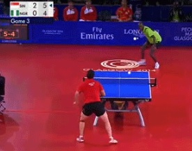 Ping pong or table tennis...whatever you call it, this is amazing.