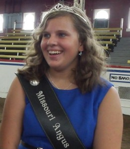 Andrea Larson, the 2014 Missouri Angus Princess.
