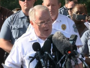 Ferguson Police Chief Tom Jackson (screencap courtesy KSDK)