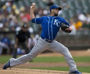 James Shields delivers a pitch on Sunday in Oakland.  (photo/MLB)