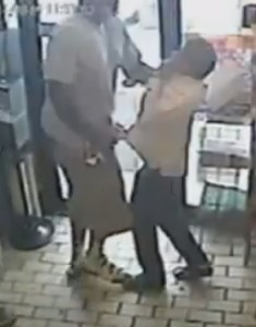 Ferguson Police say this surveillance video shows Michael Brown involved in a strong-arm robbery at a convenience store about ten minutes before he was fatally shot by officer Darren Wilson.