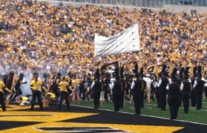 The energy was high as Mizzou took the field for their season opener (photo/Emily Dayton)