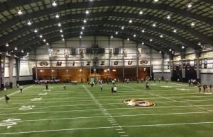 Mizzou practiced indoors on Saturday.