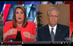 Missouri Governor Jay Nixon appears on CNN's State of the Union with Candy Crowley.  (screencap courtesy; CNN)