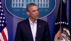 President Barack Obama on Monday spoke publicly about Ferguson for the second time.