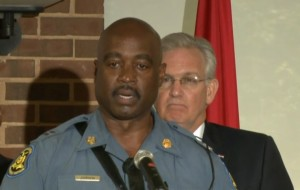 Captain Ron Johnson will be in charge of the Highway Patrol's efforts to lead security in Ferguson.  (screencap courtesy KSDK)