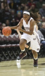 Tyonna Snow had 14 points and six steals for Missouri State in their win over Mizzou last season. (photo/Missouri State athletics)