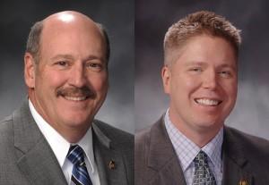 Representatives Don Phillips (left) and Jeff Roorda (courtesy; Tim Bommel, Missouri House Communications)