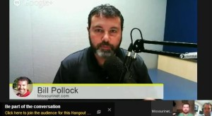 Watch Bill Pollock's Google Hangouts on YouTube.