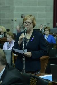 Representative Jeanne Kirkton (courtesy; Tim Bommel, Missouri House Communications)