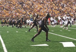 Mizzou takes on IU in the first quarter at Faurot Field (Emily Dayton)