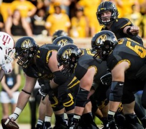 The offensive line will be without Anthony Gatti on Saturday and for the rest of the season (photo/Mizzou Athletics)