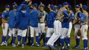 The Omaha Storm Chasers, the Royals Triple-A affiliate, celebrate their division championship. (photo/OmahaStormChasers.com)