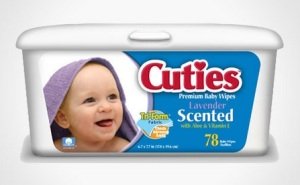 Cuties brand wipes is one of those in the recall by Nutek.
