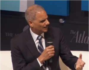 U.S. Attorney General Eric Holder speaks at the 6th annual Washington Ideas Forum.