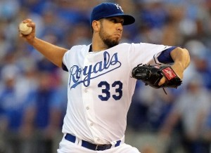 The Royals are ready to make a run at re-signing James Shields in the offseason (photo/MLB)
