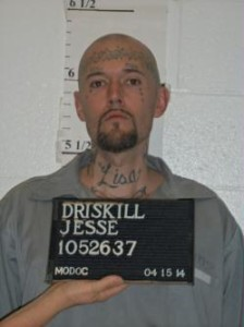Jesse Driskill is held at the Potosi Correctional Center.