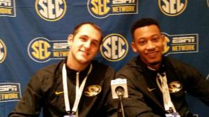 Ryan Rosburg and Jonathan Williams III sat down with Missourinet to talk Tiger basketball (photo/Phil Kornblut)
