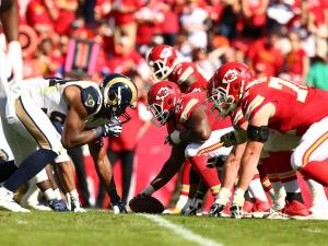 The Rams and Chiefs lined up against each other at Arrowhead on Sunday.  It wasn't much of a game as the Chiefs dominated in a three phases. (photo/KCChiefs.com