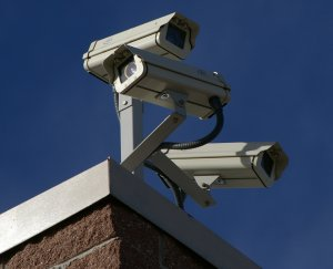 Surveillance cameras (courtesy; Wikipedia commons)