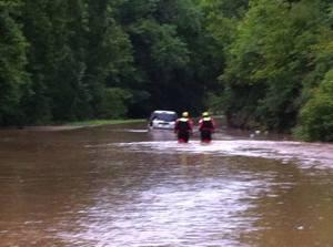 File photo of flooding near Waynesville.