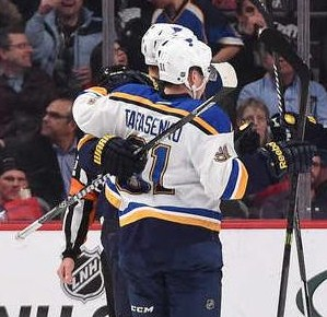 Vladimir Tarasenko scored his team leading 11th goal of the season (photo/NHL)