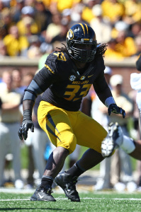 Sept. 13, 2014 - Columbia, Missouri - September 13, 2014 Columbia, MO: Missouri Tigers defensive lineman Markus Golden (33) in action during the third quarter of the NCAA football game between the Missouri Tigers and the Central Florida Knights at Faurot Field in Columbia, Missouri. Missouri defeated Central Florida 38-10. Billy Hurst/CSM(Credit Image: