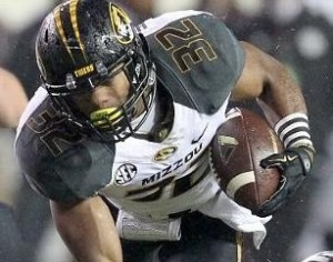Russell Hansbrough rushed for a career high 199 yards (photo/MIzzou Athletics)