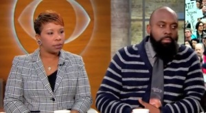 Michael Brown's parents, Lesley McSpadden and Michael Brown, Senior, spoke on CBS's This Morning about their reaction to officer Darren Wilson's account of his fatal shooting of their son on August 9.