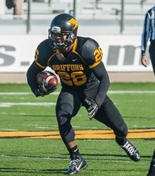 Raphael Spencer gained 72 of Missouri Western's 217 rushing yards against the Lopers. (photo/John Ellis/Missouri Western)