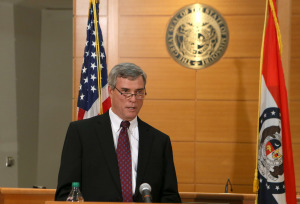 St. Louis County Prosecutor Robert McCulloch announces the grand jury¹s decision not to indict Ferguson police officer Darren Wilson in the Aug. 9 shooting death on Michael Brown on November 24, 2014, at the Buzz Westfall Justice Center in Clayton, Missouri.     UPI/POOL