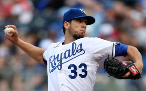 James Shields was offered a qualifying offer by the Royals (photo/KC Royals)