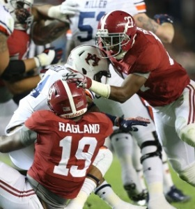 Alabama's front seven is the best Nick Saban has ever had, according to one Tide reporter (photo/RollTide.com)