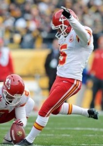 Cairo Santos provided all of the Chiefs offense in the loss at Pittsburgh (photo/NFL)