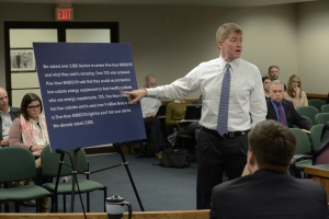 Missouri Attorney General Chris Koster offers an explanation to a House Committee of why his office didn't pursue a lawsuit against the makers of 5-Hour Energy Drinks.  (photo courtesy; Tim Bommel, Missouri House Communications)