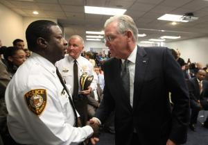 "Governor Jay Nixon on the day he announced he would name the ""Ferguson Commission,"" to study events in Ferguson and make recommendations for progressing on those issues.  (courtesy; the office of Gov. Jay Nixon)"