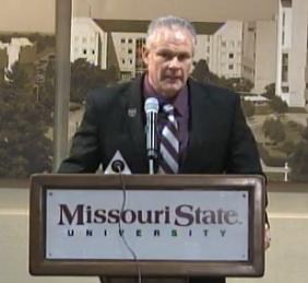 Dave Steckel is announced at the new Missouri State football coach