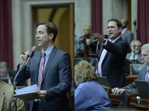 Representative Jay Barnes (left) and Representative Mike Colona (photo courtesy; Tim Bommel, Missouri House Communications)