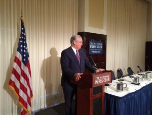 "Governor Jay Nixon speaks at the ""public launch"" of the U.S. Agriculture Coalition for Cuba, at the National Press Club in Washington D.C.  (courtesy; the office of Governor Nixon)"