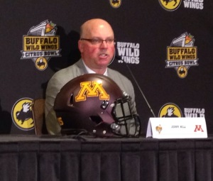 Jerry Kill, raised in Kansas, got his head coaching start in Missouri (photo/Bill Pollock, Missourinet)