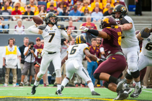 Maty Mauk will enter 2015 with major question marks coming from the wide receiver position (photo/Mizzou Athletics)