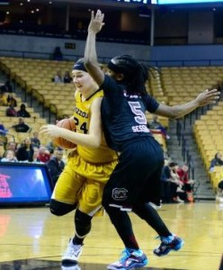 Sierra Michaelis from Mercer, Mo., led Mizzou in scoring (photo/Mizzou Athletics)