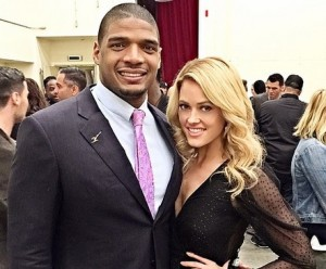 Michael Sam and Peta Murgatroyd pose for a photo (Instagram/Pete Murgatroyd)