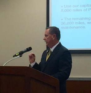 MoDOT Director Dave Nichols presents his plan to the commission.