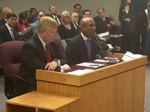 Talk show host Montel Williams testifies in support of Hinson's bill.