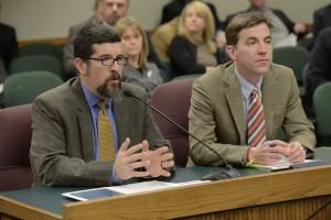 Representatives Mark Parkinson (right) and Jay Barnes (photo courtesy; Tim Bommel, Missouri House Communications)