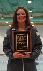 Lauren Pavel was named MVC Swimmer of the Year for the first time in her career